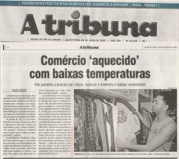 Comércio 'aquecido' com baixas temperaturas