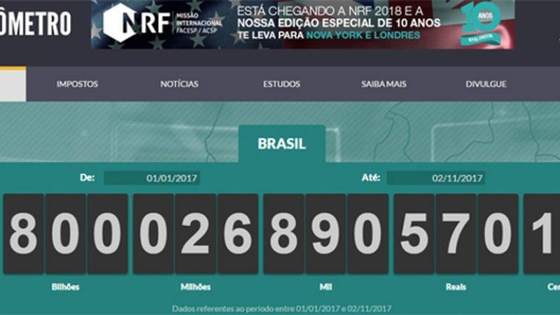 Brasileiros já pagaram R$ 1,8 trilhão em impostos em 2017, diz ACSP